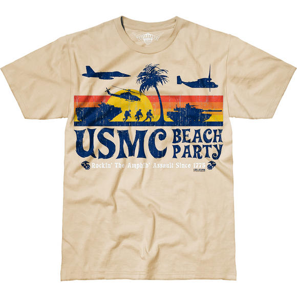 7.62 Design USMC Beach Party T-Shirt Sand