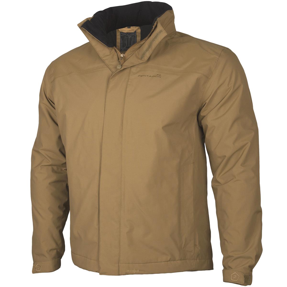 Pentagon Atlantic Plus Rain Jacket Tactical Mens Fleece Nylon Soft ...