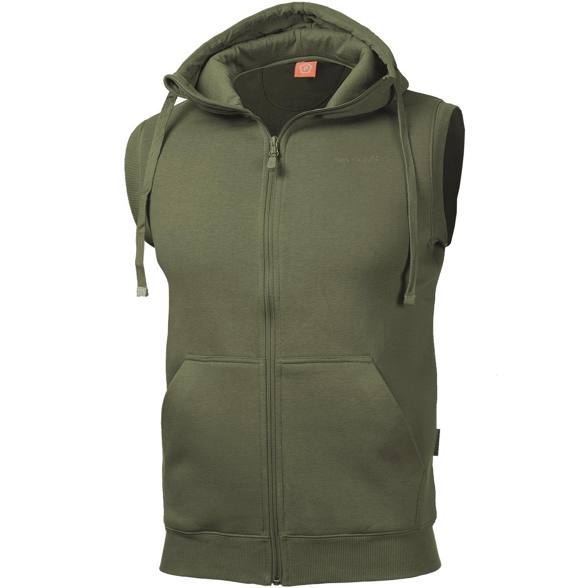 Pentagon Thespis Sweater Vest Hooded Jumper Sleeveless Mens Jacket ...
