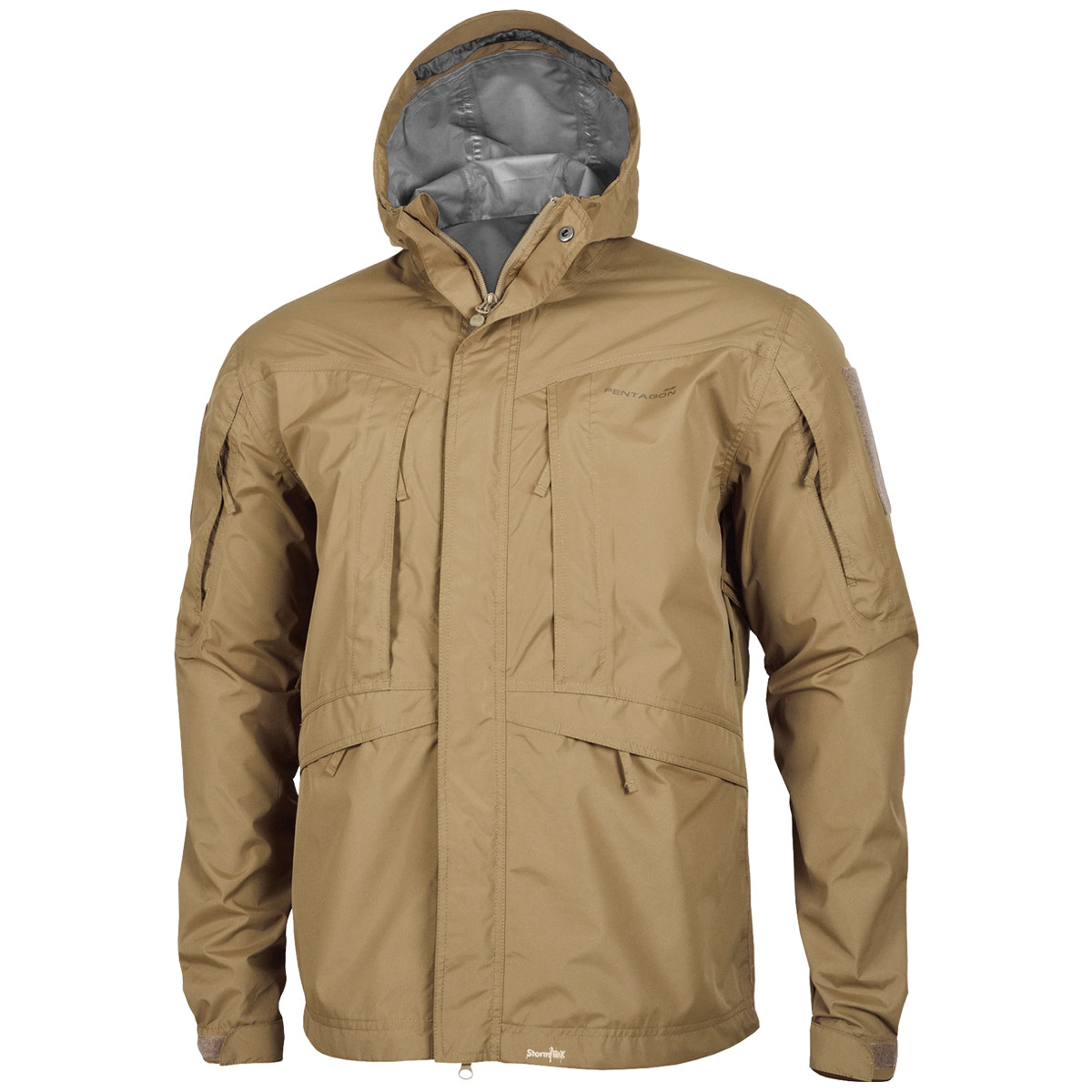 Pentagon monsoon soft shell tactical mens rain jacket for Mens fishing rain gear