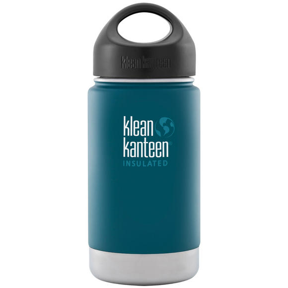 Klean Kanteen Wide Mouth Insulated 355ml Bottle Loop Cap Neptune Blue