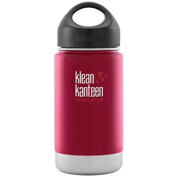 Klean Kanteen Wide Mouth Insulated 355ml Bottle Loop Cap Roasted Pepper