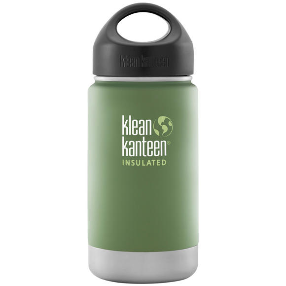 Klean Kanteen Wide Mouth Insulated 355ml Bottle Loop Cap Vineyard Green