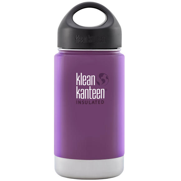 Klean Kanteen Wide Mouth Insulated 355ml Bottle Loop Cap Wild Grape