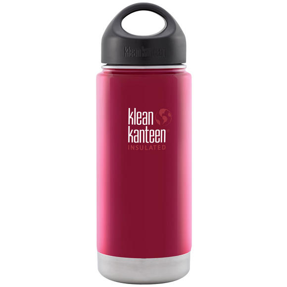 Klean Kanteen Wide Mouth Insulated 473ml Bottle Loop Cap Roasted Pepper