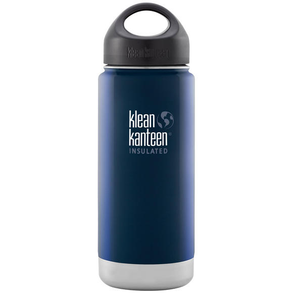 Klean Kanteen Wide Mouth Insulated 473ml Bottle Loop Cap Deep Sea