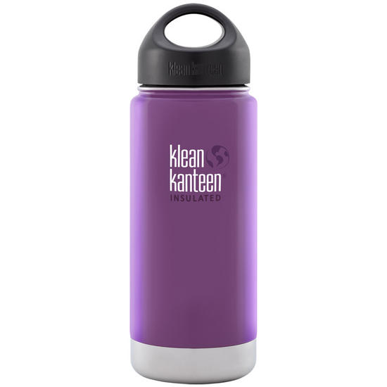 Klean Kanteen Wide Mouth Insulated 473ml Bottle Loop Cap Wild Grape