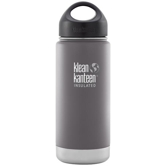 Klean Kanteen Wide Mouth Insulated 473ml Bottle Loop Cap Granite Peak