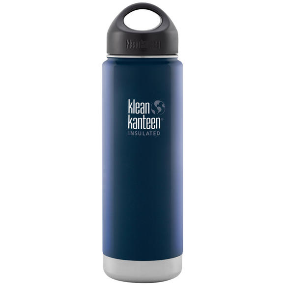 Klean Kanteen Wide Mouth Insulated 592ml Bottle Loop Cap Deep Sea