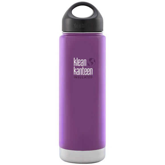 Klean Kanteen Wide Mouth Insulated 592ml Bottle Loop Cap Wild Grape