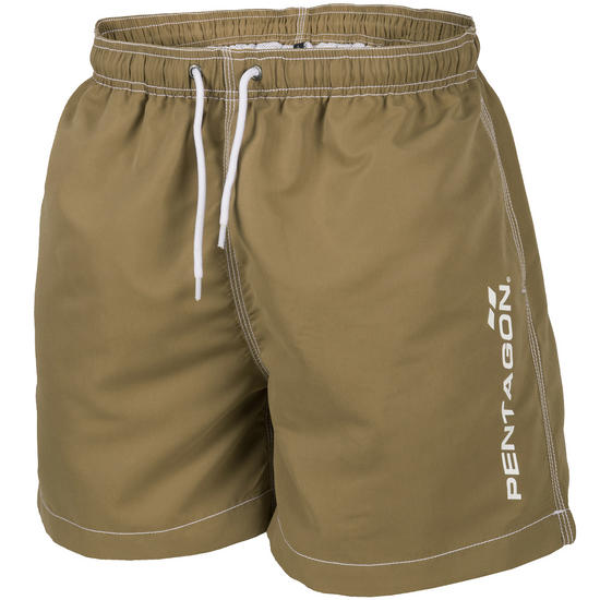 Pentagon Hippocampus Swimming Shorts Coyote