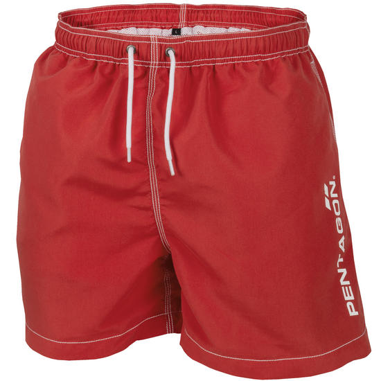 Pentagon Hippocampus Swimming Shorts Red