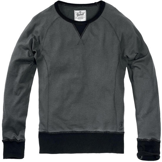 Brandit Liam Sweatshirt Crew Neck Anthracite / Black