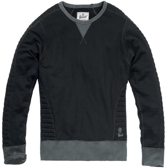 Brandit Liam Sweatshirt Quilted Black / Anthracite