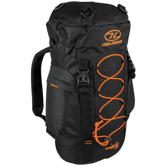 Highlander Rambler 25 Rucksack Black/Orange