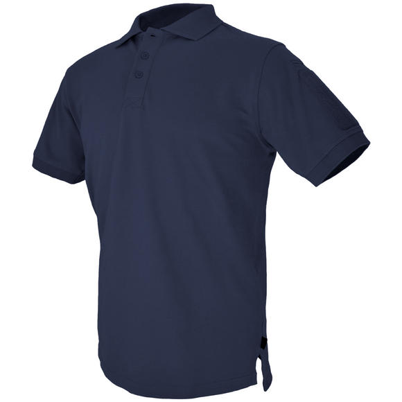 Hazard 4 Undervest Plain Front Battle Polo Shirt Navy