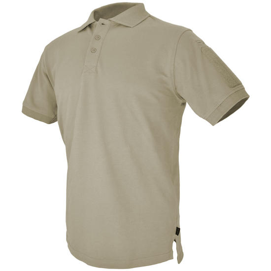 Hazard 4 Undervest Plain Front Battle Polo Shirt Tan