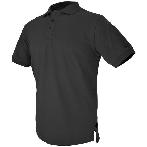 Hazard 4 Quickdry Undervest Plain Front Battle Polo Shirt Black