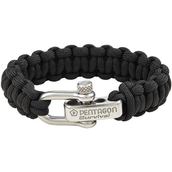 Pentagon Survival Bracelet Black