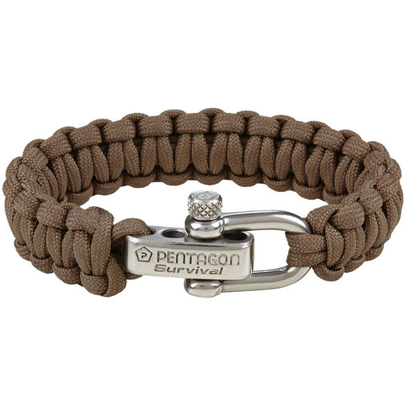 Pentagon Survival Bracelet Coyote