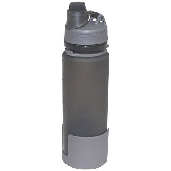 Fox outdoor foldable drinking bottle gray water for Perfect drink pro scale