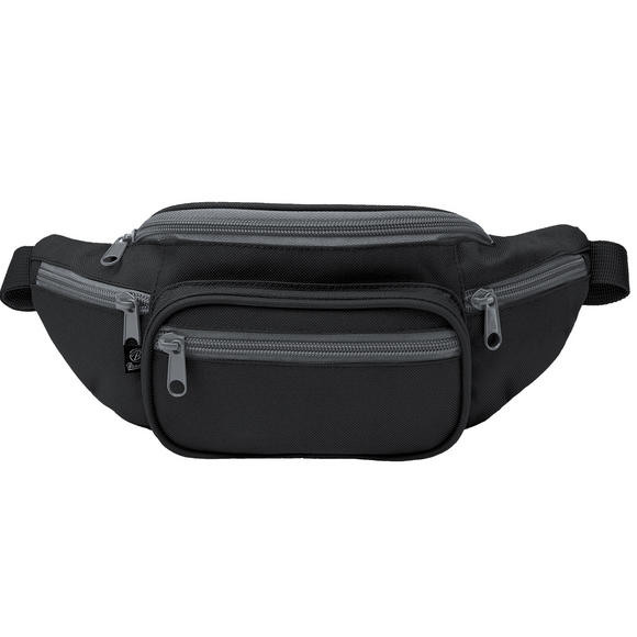 Brandit Waist Bag Black / Anthracite