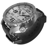 Hazard 4 Heavy Water Diver Titanium Tritium Watch Bead-Blasted White Dial Black Graphics BBRB