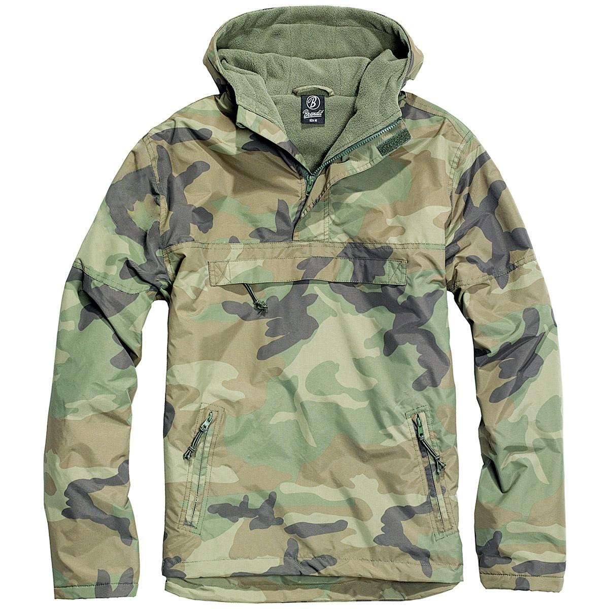 Brandit Army Combat Windbreaker Hooded Mens Jacket Fishing Anorak ...