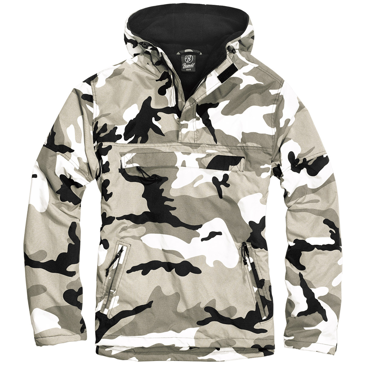 brandit military windbreaker tactical hooded anorak mens jacket urban camouflage ebay. Black Bedroom Furniture Sets. Home Design Ideas