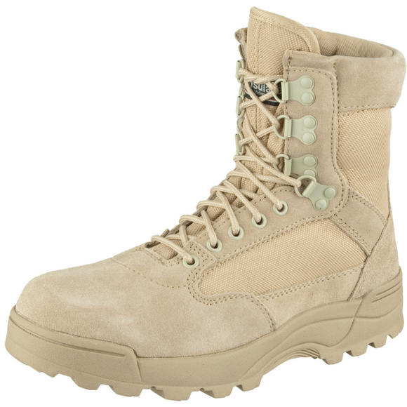 Brandit Tactical Side Zip Boots Camel