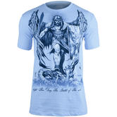 7.62 Design St Michael Fight This Day T-Shirt Light Blue