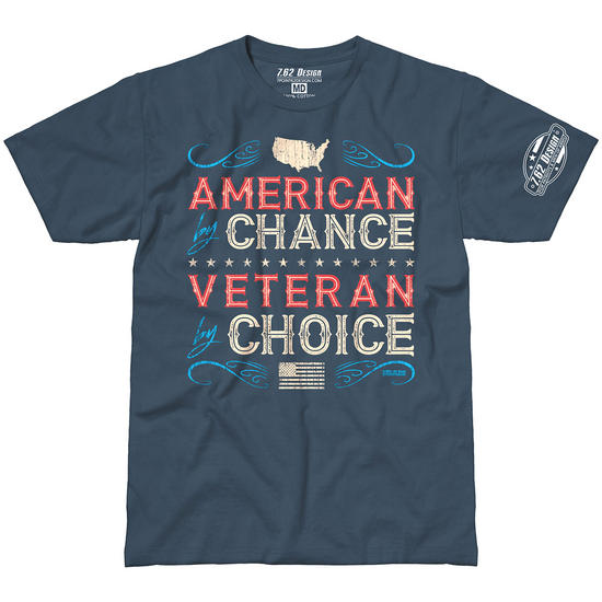 Design Veteran By Choice American T Shirt Indigo 7