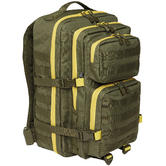Brandit US Cooper Rucksack Large 2-Colour Olive / Yellow