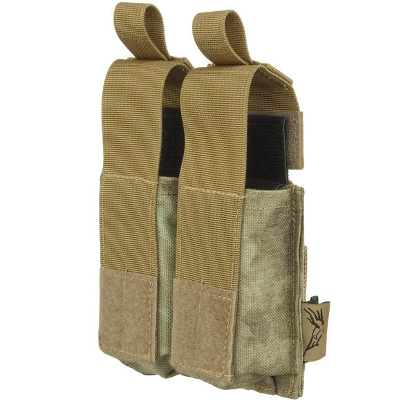 Flyye Double 9mm Pistol Magazine Pouch Ver. HP MOLLE A-TACS AU