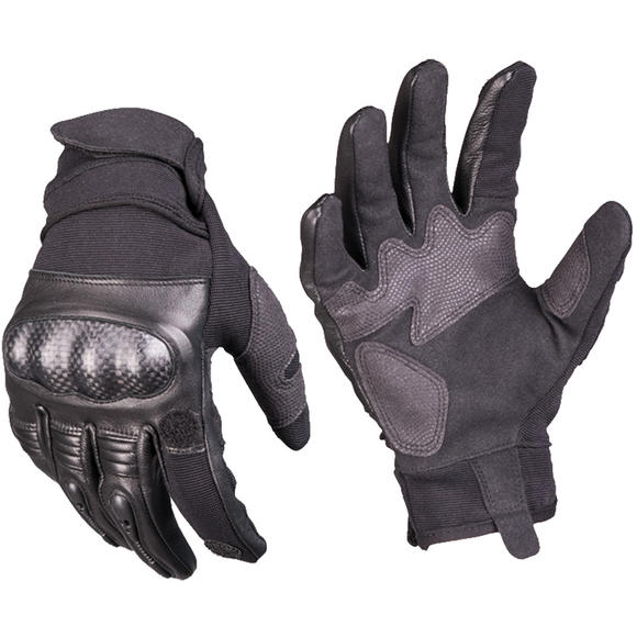 Mil-Tec Tactical Leather Gloves Gen 2 Black