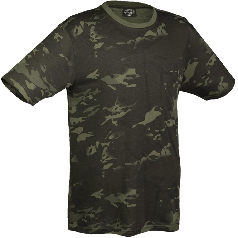 mil tec t shirt multitarn black t shirts vests. Black Bedroom Furniture Sets. Home Design Ideas