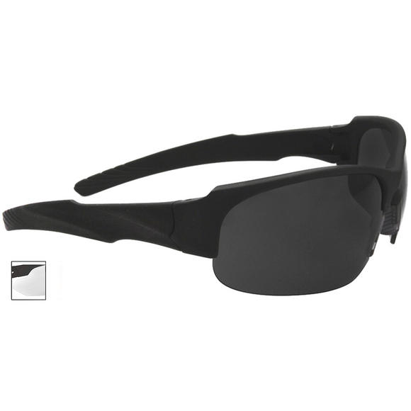 Swiss Eye Sunglasses Armored Frame Rubber Black Lens Smoke