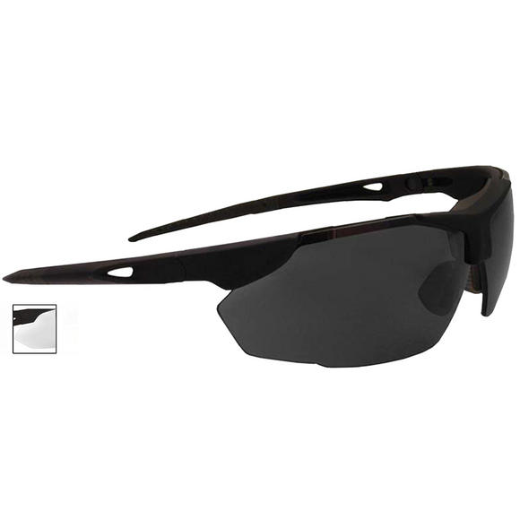 Swiss Eye Sunglasses Snowslide Frame Rubber Black Lens Smoke