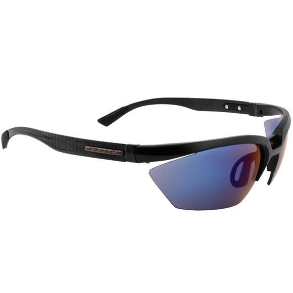 Swiss Eye C-Tec Carbon Sunglasses - Smoke Blue Mirror + Clear Lens / Black Matt Frame