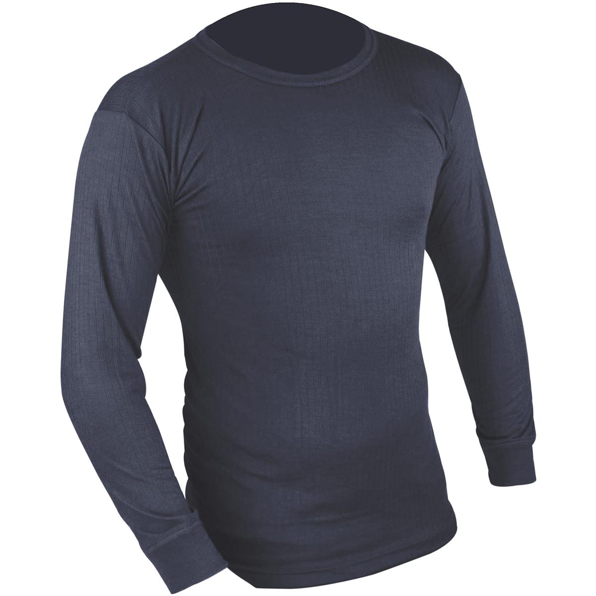 Highlander long sleeve thermal vest mens base layer shirt for Mens black thermal t shirts