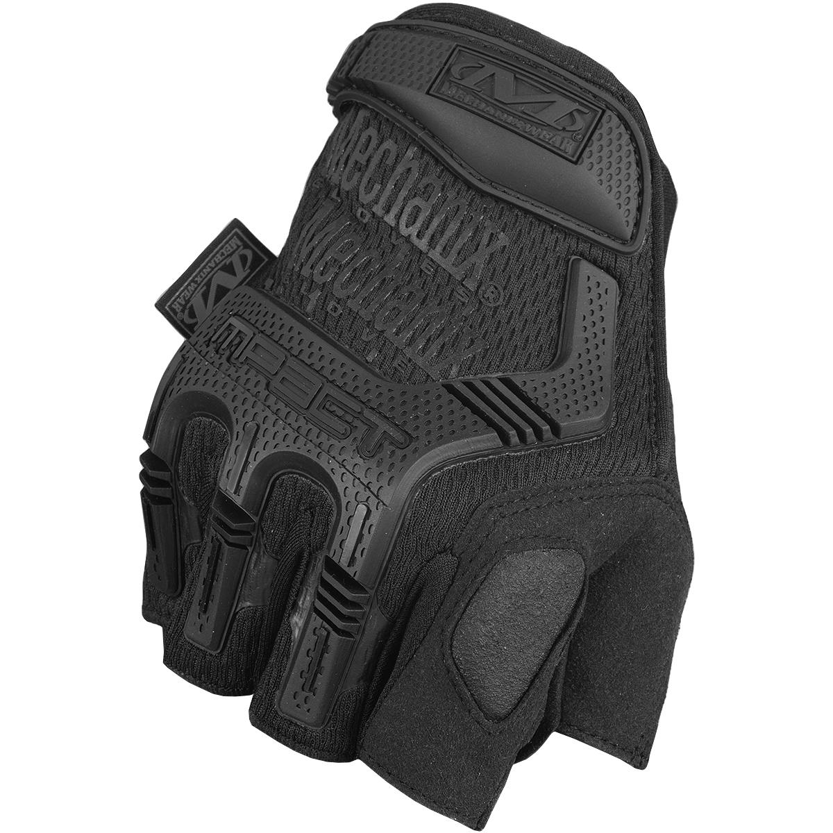 Black leather combat gloves - Mechanix Wear M Pact Fingerless Gloves Covert Mechanix Wear M Pact Fingerless Gloves Covert