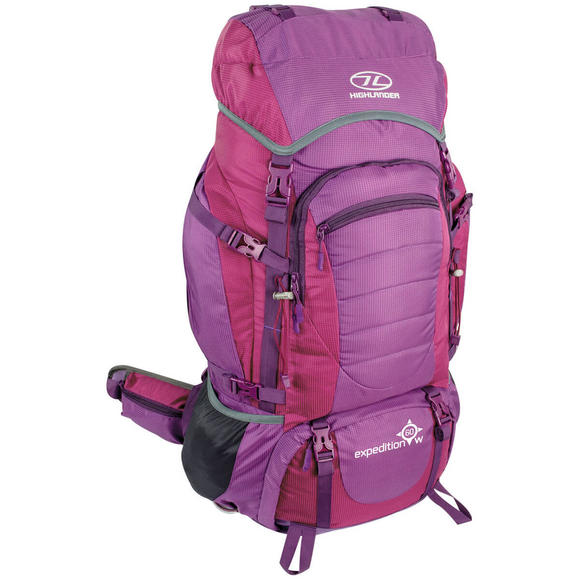Highlander Expedition 60W Rucksack Purple