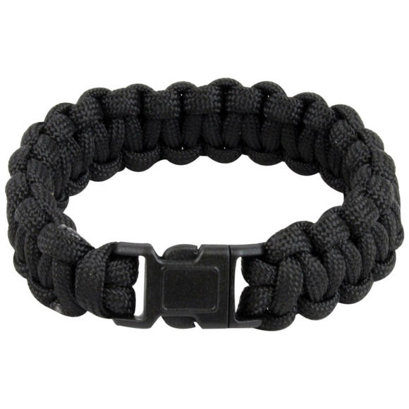 Highlander Paracord Bracelet Quick Release Buckle Black