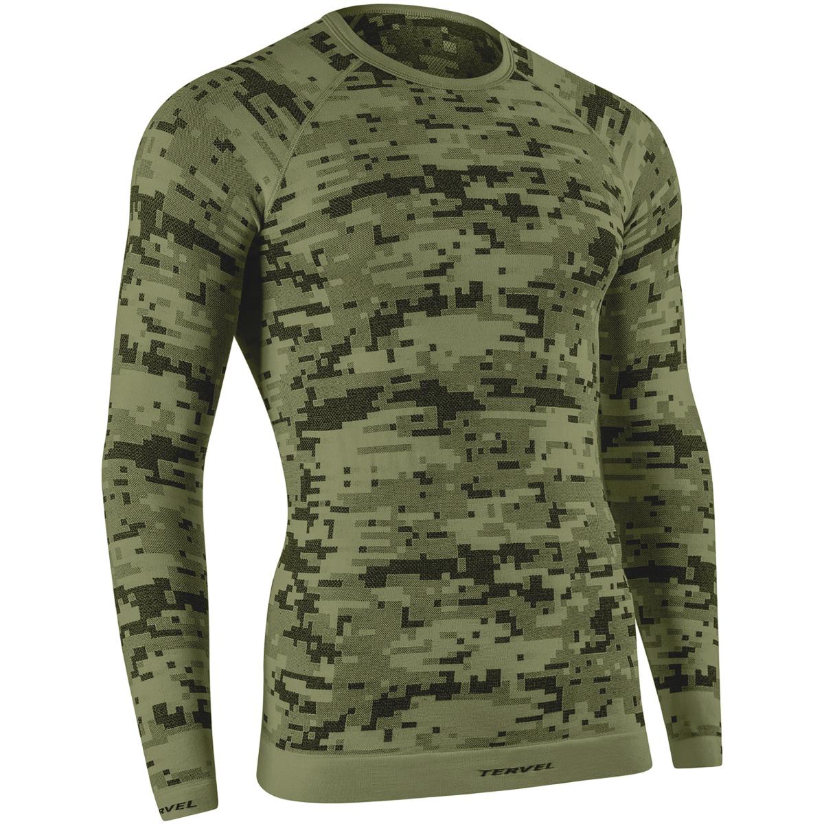 Tervel Optiline Digital Top Mens Long Sleeve Underwear Shirt ...