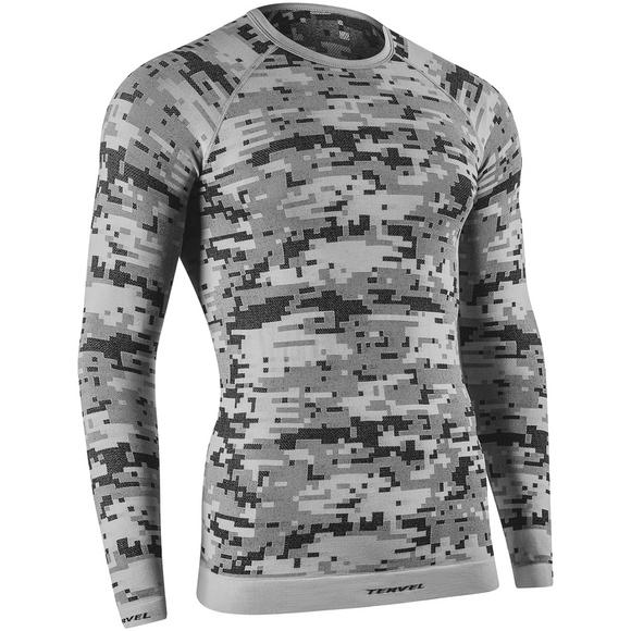 Tervel Optiline Digital Shirt Long Sleeve Silver / Grey