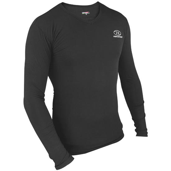 Highlander ClimateX 180 Bamboo Long Sleeve Top Black