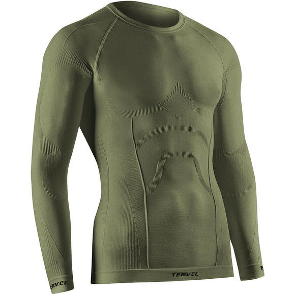 Tervel Comfortline Shirt Long Sleeve Military