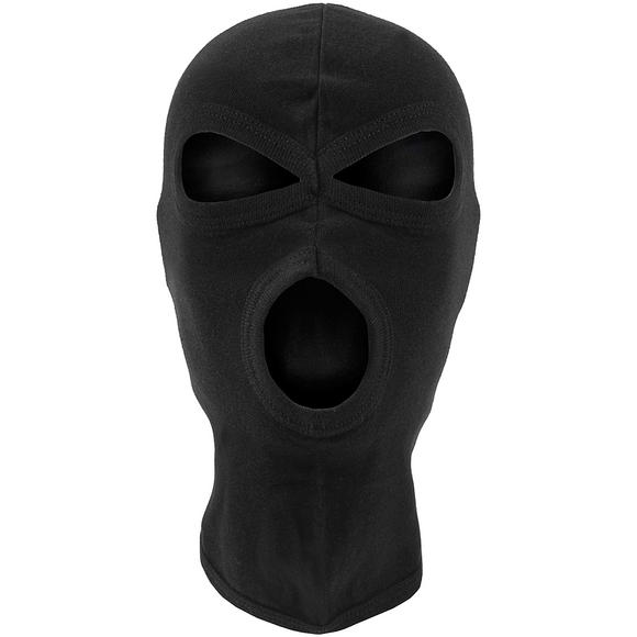 MFH 3 Hole Balaclava Lightweight Cotton Black