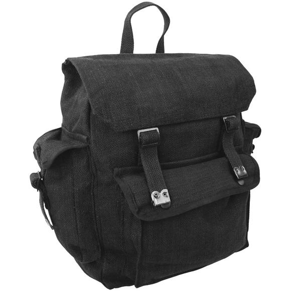 Highlander Large Pocketed Web Backpack Black