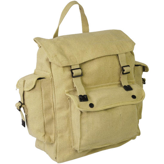 Highlander Large Pocketed Web Backpack Beige
